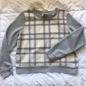 Anthropologie plaid sweatshirt